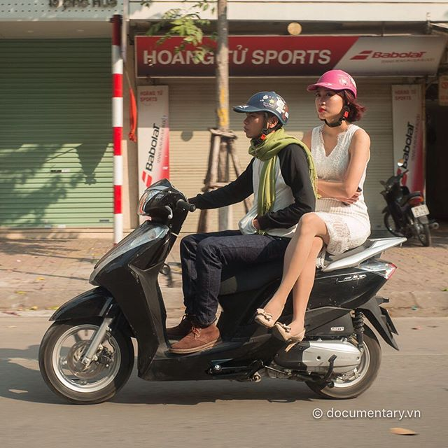 [Instagram] Spring time #couple #hanoi #sunny #cold #motorbike