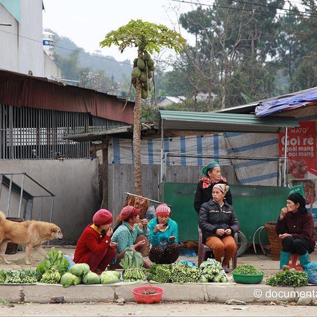 [Instagram] Họp chợ #women #dog #market #sidewalk #chitchat #quanba #hagiang #vietnam