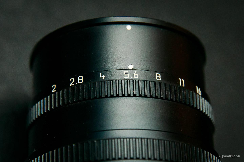 Đánh dấu khẩu độ trên ống kính Leica Summicron-M f2/50