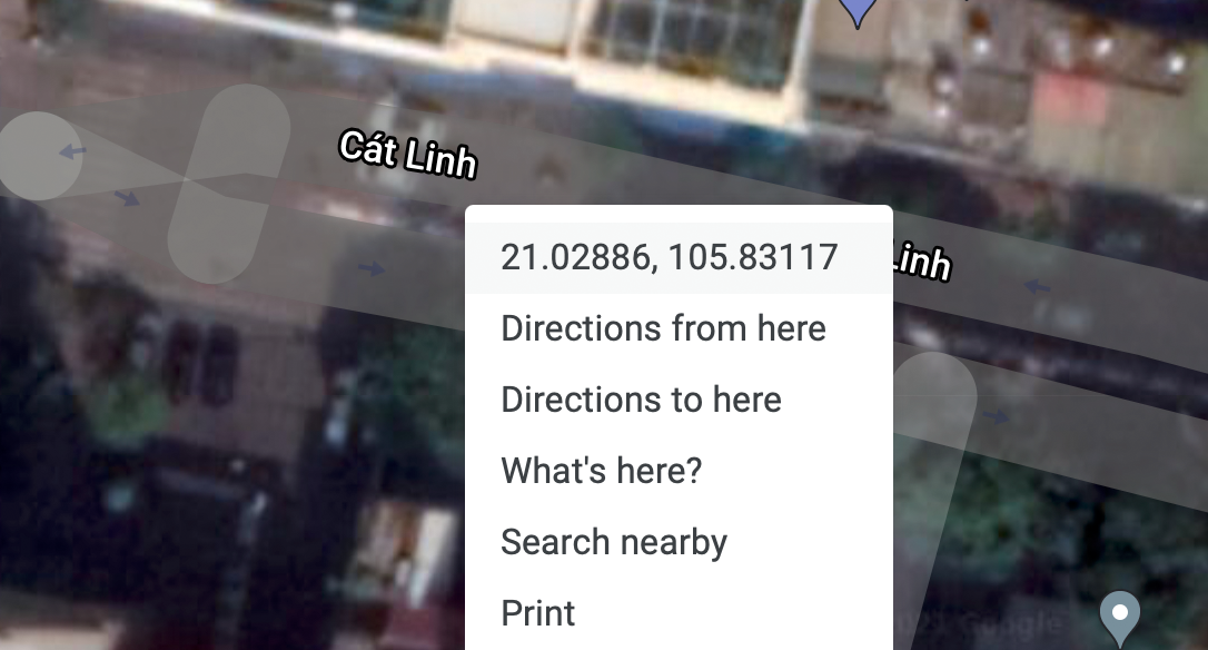 Sao chép toạ độ trên Google Maps