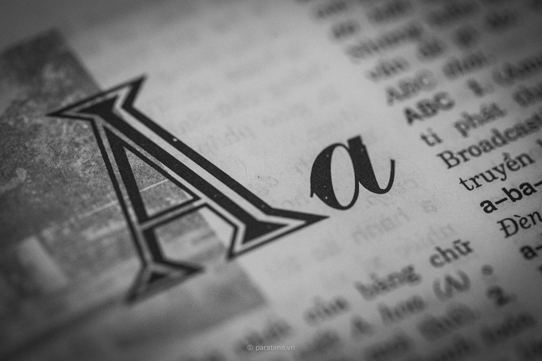 Mục từ đầu tiên trong từ điển tiếng Việ